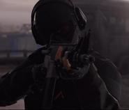 Fusil G1-4C у спецназовца группировке боевиков