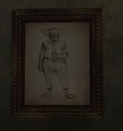 Картина с клоуном Корки в имении Дельгадо