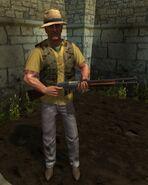 Дробовик в руках NPC-2