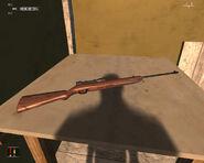 Пневматическая винтовка в домике на дереве