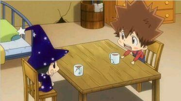 Rebo talks with Tsuna