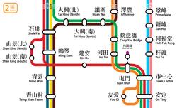 LR Fare Zone 2 map