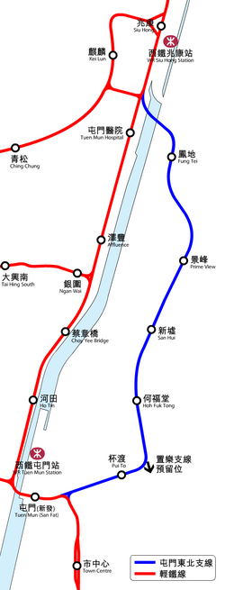 TUM North East Branch Line System Map
