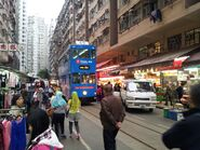Hong Kong tramways 69 in Chun Yeung Street