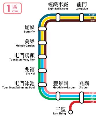 LR Fare Zone 1 map