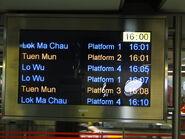 HUH Departure Display near Exit D