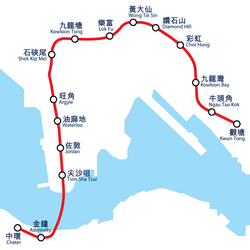 MTR Modified Initial Syatem map