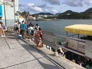 Lei Yue Mun(Sam Ka Tsuen) to Tung Lung Chau Ferry passengers alighting situation 25-06-2017
