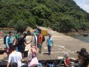 Sham Chung Pier passengers alighting