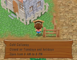 Cafe Callaway Hours MM