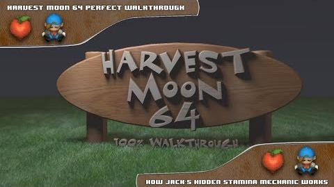 Harvest Moon 64 Perfect Walkthrough - How Jack's Stamina Works
