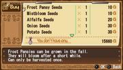 Crops menu