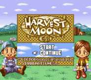 Harvest Moon GB Super Gameboy Title