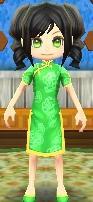 Emerald cheongsam