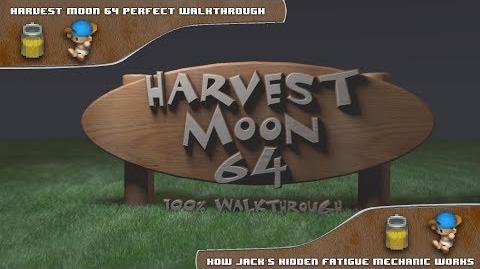 Harvest Moon 64 Perfect Walkthrough - How Jack's Fatigue Works