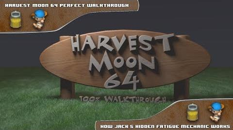 Harvest Moon 64 Perfect Walkthrough - How Jack's Fatigue Works