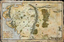Hobbit world map