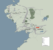 MOUNT DOOM location map in middle earth