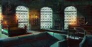 Slytherin dorm room by facegrater-d8jpbuu
