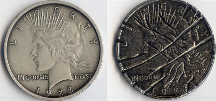 Batman The Dark Knight Harvey Dent Two Face Coin 2-face