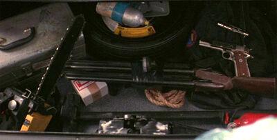 The 'Cuda's trunk