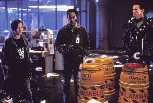 Terminator, John, and Miles