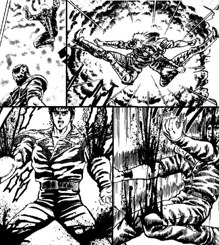 Resultado de imagen de Kenshiro Vs Shin manga