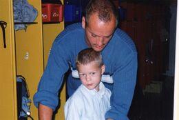 Første skoledag med far