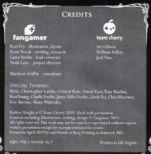 Wanderer's Journal Credits
