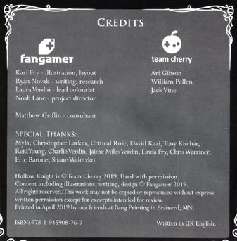 Wanderer's Journal Credits