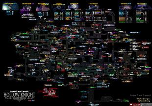 !!!!Hollow knight map+(4DLC)