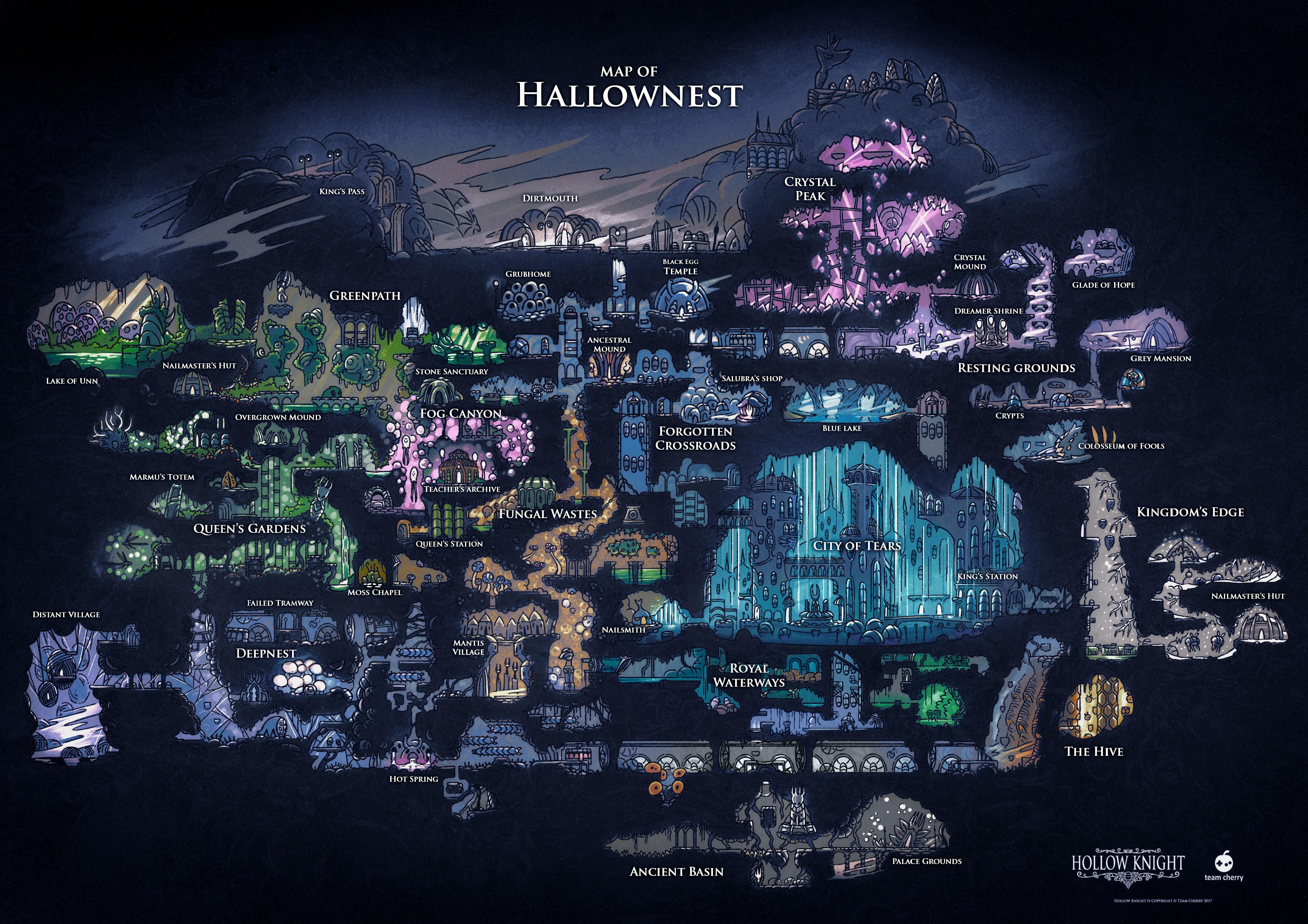 Hollow Knight   Hallownest Map | Art in 2019 | Pinterest | Knight