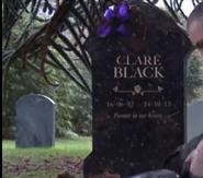 Clare black headstone