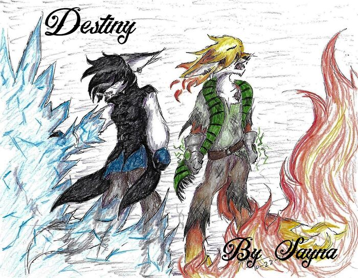 'Destiny' Ice and Fire (book cover)