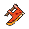 Rusty axehead