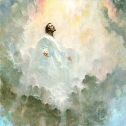 Jesus in the cloud