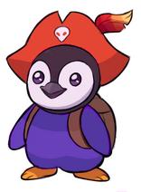 Percyl - Purple Pirate Penguin