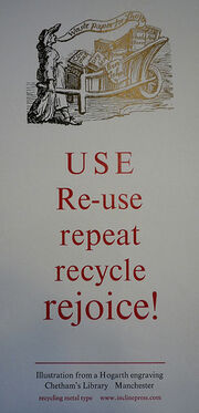 USE, Re-use, repeat, recycle, rejoice! via the Incline Press at Chetham's Library