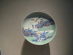 Dish with Design of Reeds in Mist