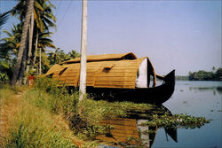 കെട്ടുവള്ളം..... A houseboat moored on the backwaters...