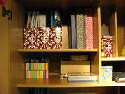 Orderly shelves