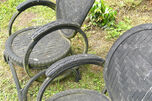 Bike tire chairs