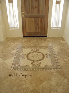 Medallion 48 x 48 Travertine