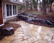 Patio and rockwork