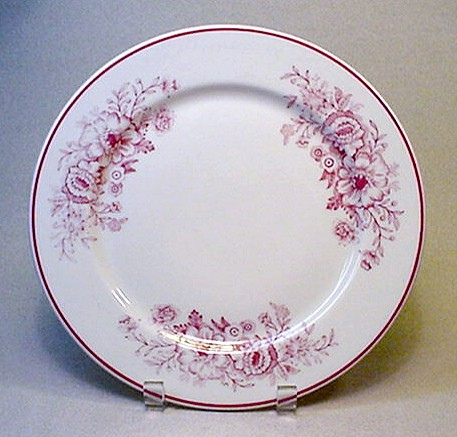 FileCARIBE CHINA red floral patterned dinner plate - Vintage RESTAURANT WARE china.jpg & Image - CARIBE CHINA red floral patterned dinner plate - Vintage ...