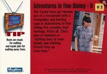 1994 Home Improvement (Skybox) Adventures in Fine Dining - B 1