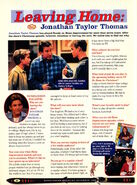 Jonathan Taylor Thomas interview Home Improvement Nickelodeon Magazine December 1998