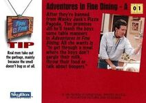 1994 Home Improvement (Skybox) Adventures in Fine Dining - A 1