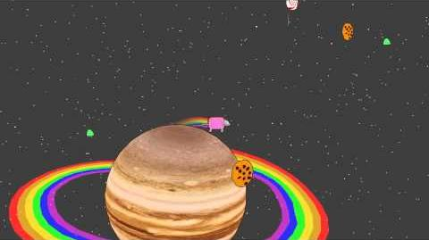 Nyan cat in the candy galaxy