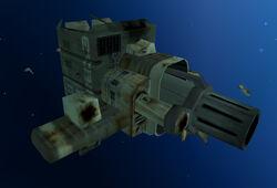 Siege cannon derelict